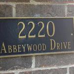 Address Number is cast plaque