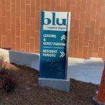 Monument Sign Blu Laguna Multifamily Housing