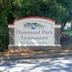 Monument Sign is foam Hammond Park Gym