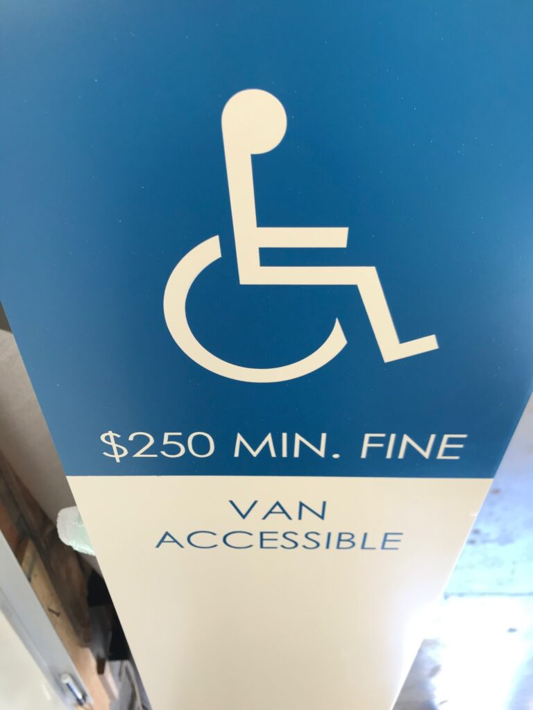 ADA Parking Sign