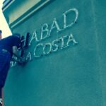 Channel letters installation Chabad