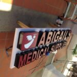 Channel Letters Abigails Medical Supplies in shop