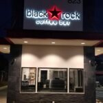 Channel letters BlackRock-night