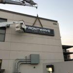 Channel letter Frontwave On Crane