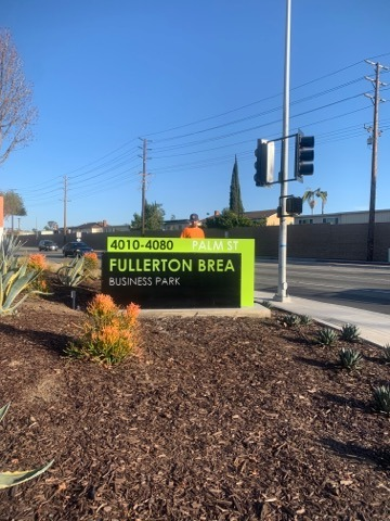 Monument Sign - Fullerton Brea Business Park