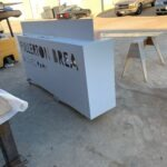 Monument Sign in production