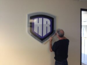 Installing a Lobby Sign