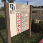 Post and panel Cabrillo Commerce Center