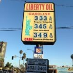 Monument Sign Liberty Oil