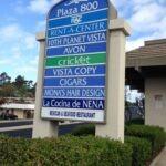 Monument Sign Plaza 800