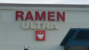 Ramen Restaurant Channel Letters