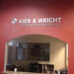 Lobby Sign Brushed Silver Dimensional Letters