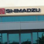 wall sign dimensional letter Shimadzu