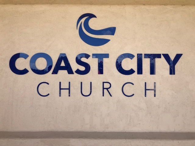 Lobby Sign Dimensional letters Church
