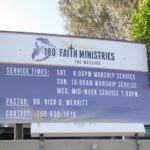 Exterior Building 180 Faith sign