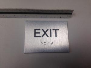 ADA Signs in Brushed Aluminum ACM