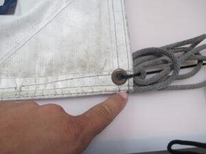 Hem or seam in banner
