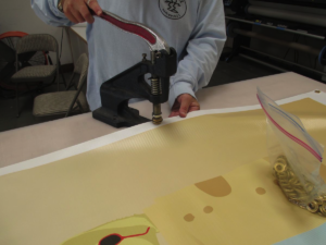 Putting Grommets in a banner