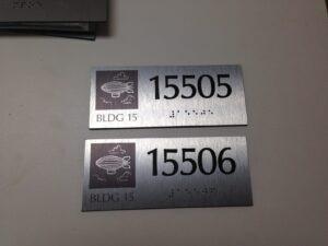 Unit ID in brushed aluminum