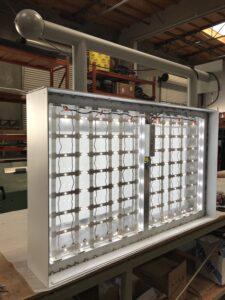 LEDs inside a blade sign