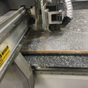 Aluminum sheet being shaped