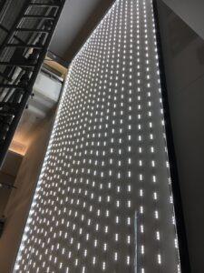 LED matrix inside a mural