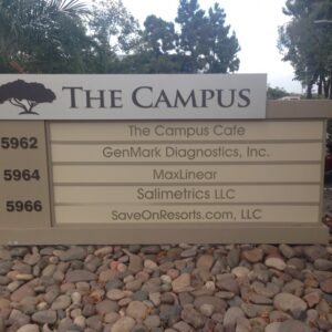 Monument sign with tenant panels