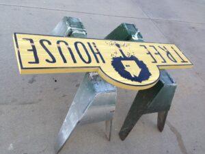 Paint drying on SandBlast Sign