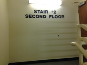 Painted Stairwell Level Sign