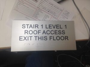 Stairwell ADA Signs