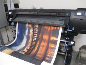Wallpaper being printed